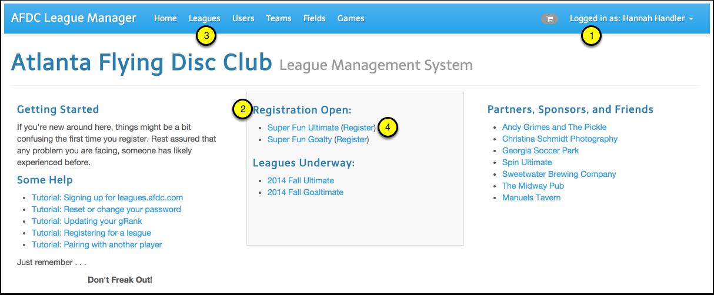 Visit leagues.afdc.com