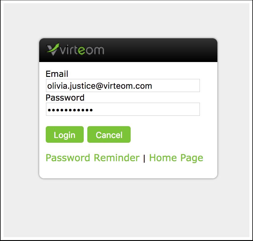Log-in to your Virteom Powered Website | Virteom