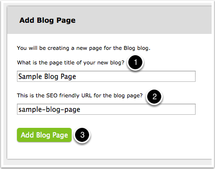 Identify your new blog page
