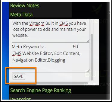 "Make sure to click ""SAVE"""