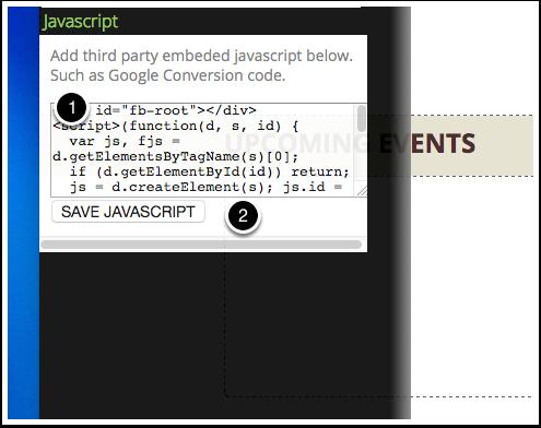 Paste your Javascript