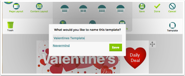 Giving the Template a Name | TouchConvert