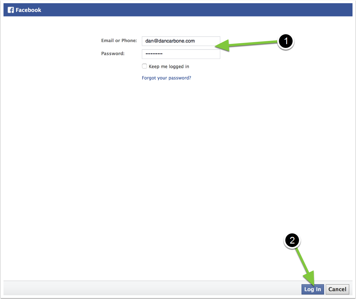 Login to your Facebook | Connections | TouchConvert