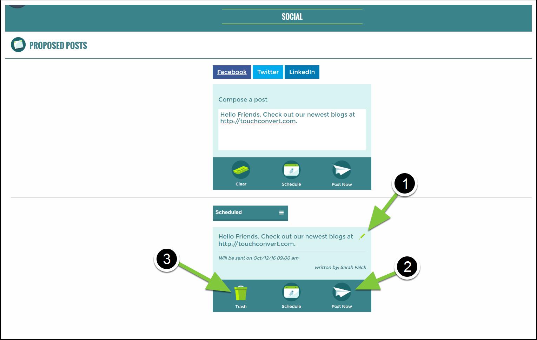 4. Scheduled Posts | TouchConvert