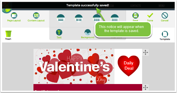 Template is Saved | TouchConvert