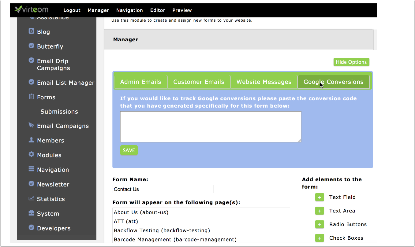 Manage Who Receives Messages from your Virteom Forms