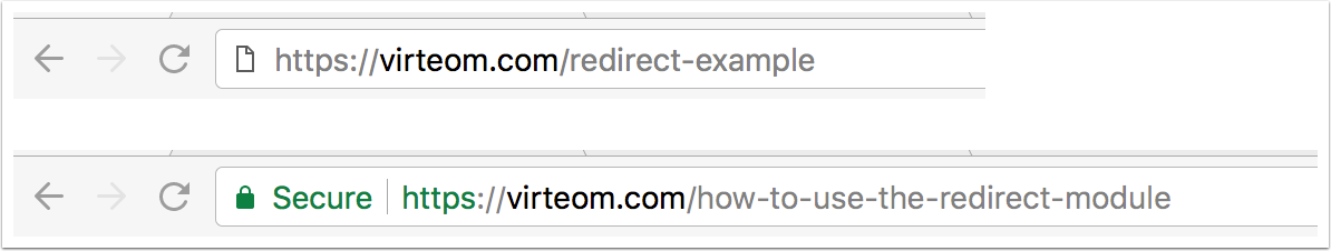 Redirect Example | Virteom CMS