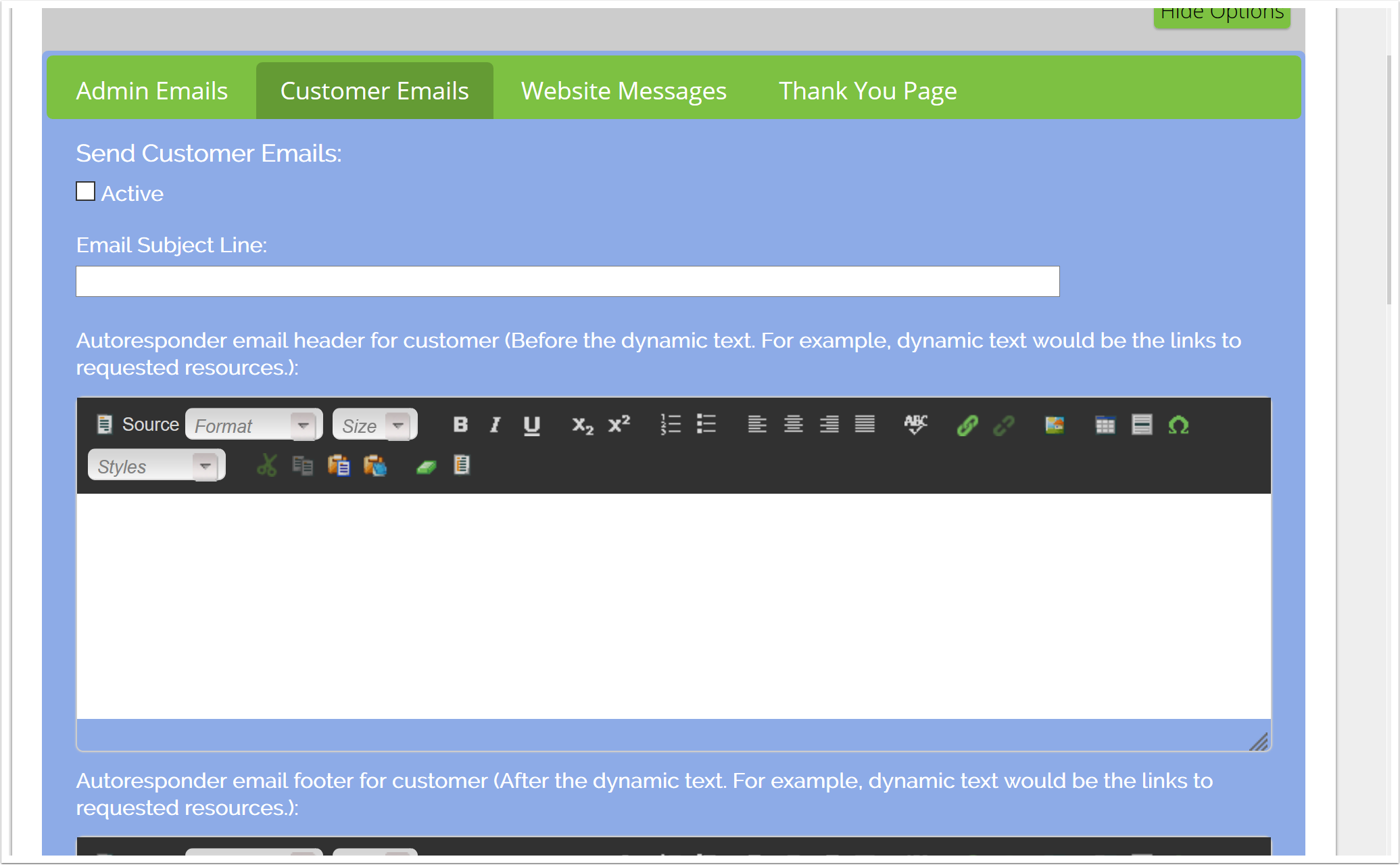 Send Customer Emails