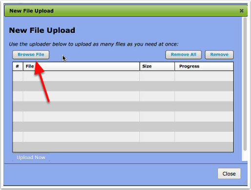 Upload File Box