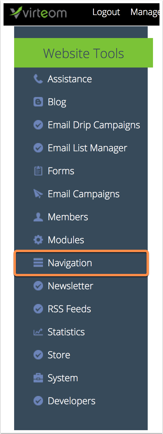 Access The Navigation  | How to Edit a Blog after it Has Been Published | Virteom CMS