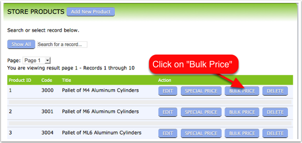Adding bulk rate to a product