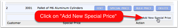 Click on 'Add New Special Price'
