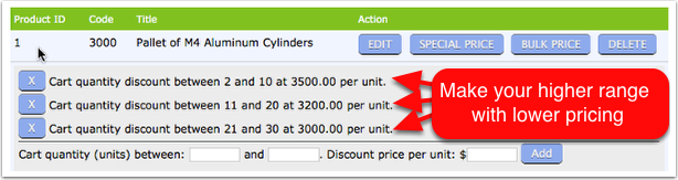 Ideally the higher the range the lower the price you should offer.