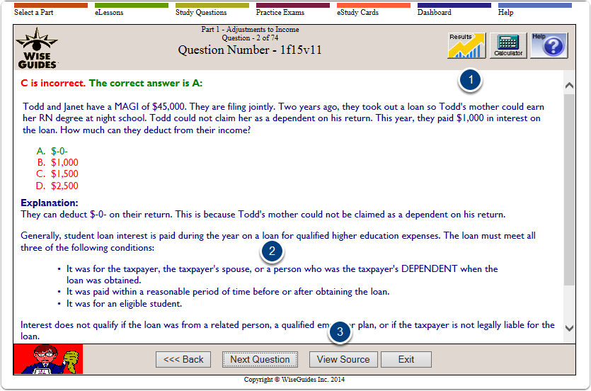 Answer Explanation Page