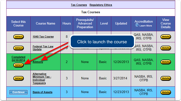Any time after you have completed a course, you can view the final exam questions you missed.