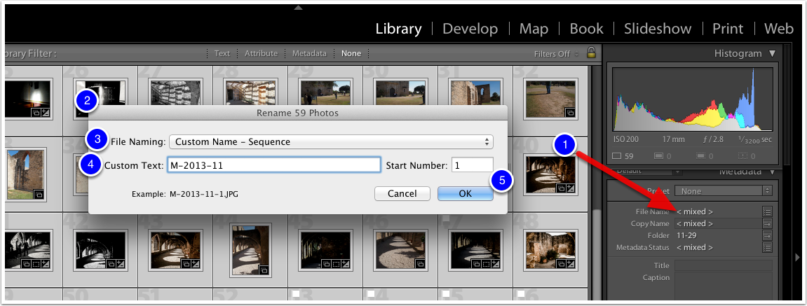 Rename your Photos (after import)