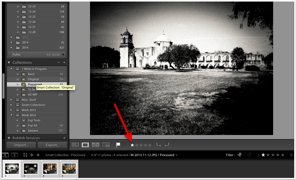 Use Processed folder to export or publish images