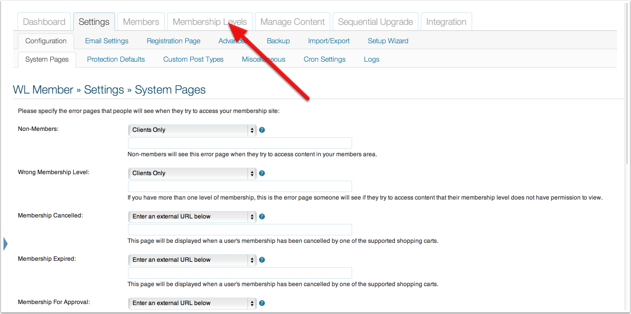 How to Change the After Login Page for a Membership Level
