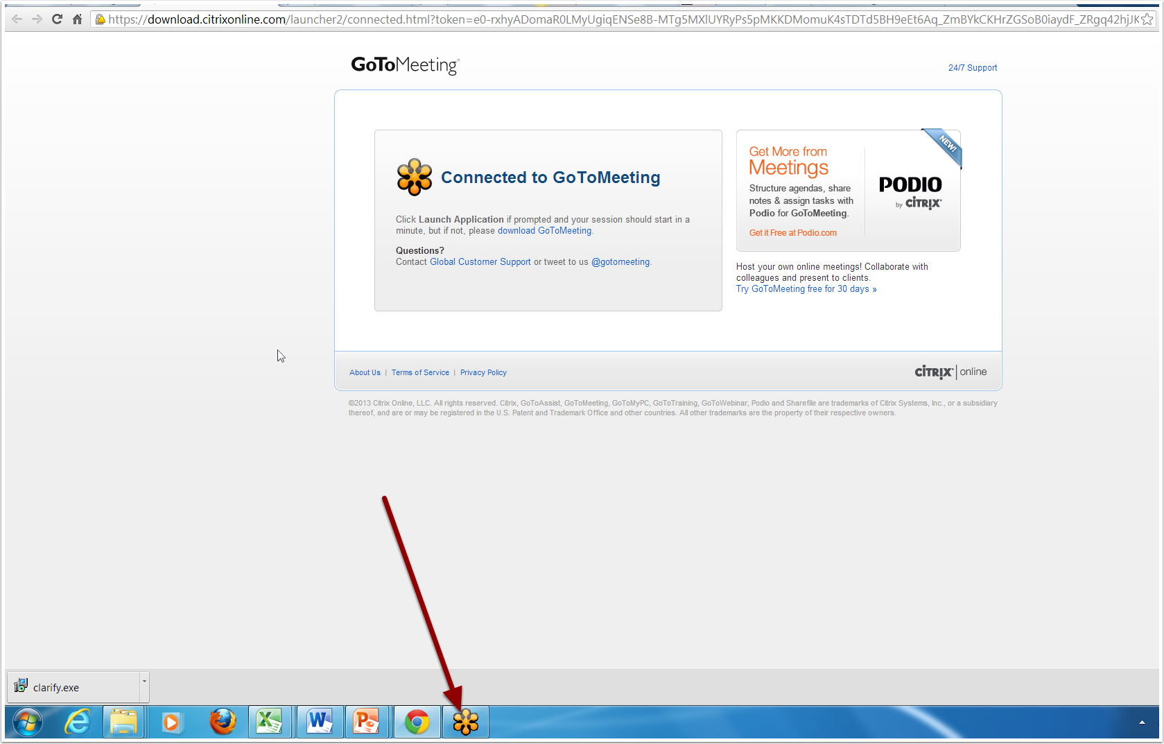 Launch GoToMeeting