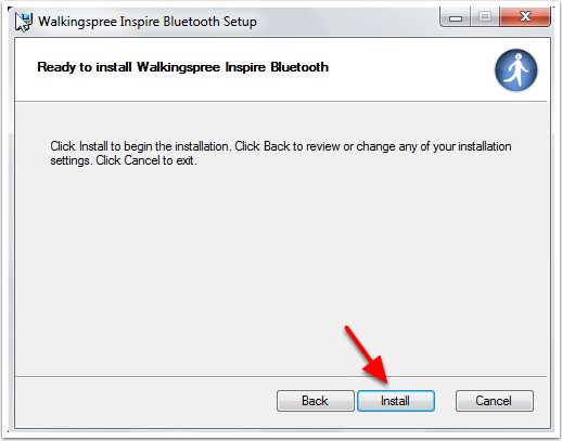 Walkingspree Inspire Bluetooth Setup