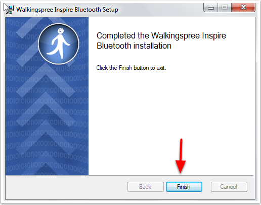 Walkingspree Inspire Bluetooth Setup