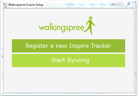 Walkingspree Inspire Setup