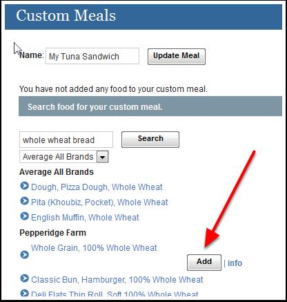 Adding Food items