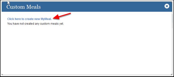 Creating Custom Meals