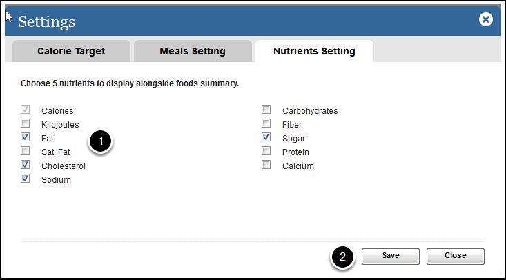 Nutrient Setting