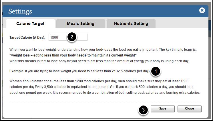 Setting a Calorie Goal