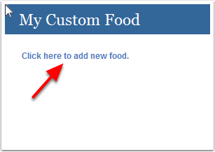 Create Custom Food