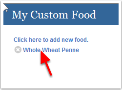 Custom Food lists
